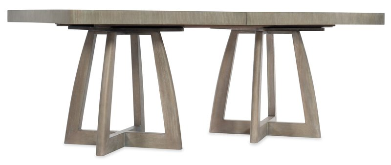Hooker Furniture Affinity 78in Rectangle Pedestal Dining Table w/2-18in Leaves