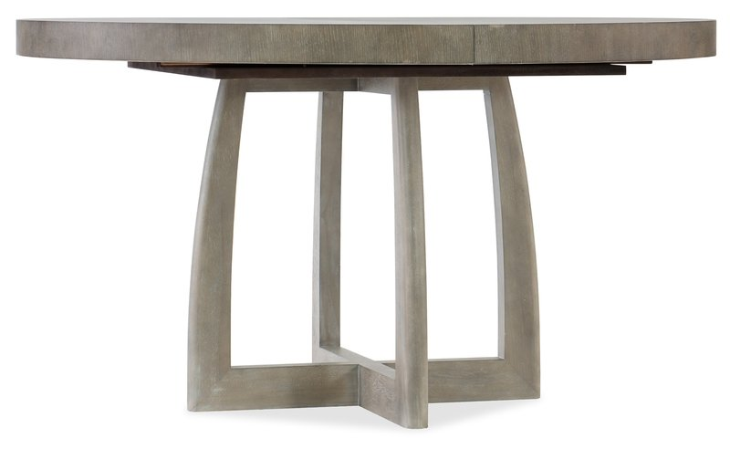 Hooker Furniture Affinity 48in Round Pedestal Dining Table w/1-18in Leaf