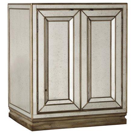Hooker Furniture Sanctuary Two-Door Mirrored Nightstand - Visage