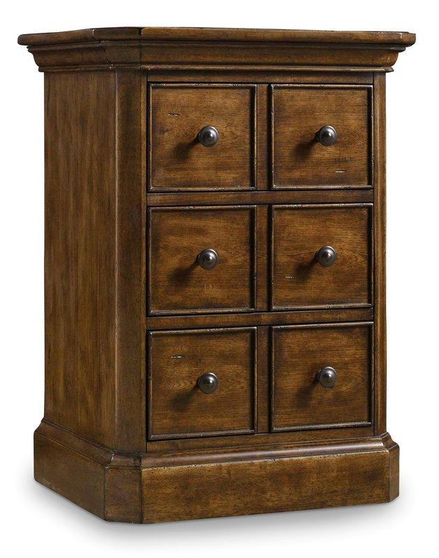 Hooker Furniture Archivist Three-Drawer Telephone Table