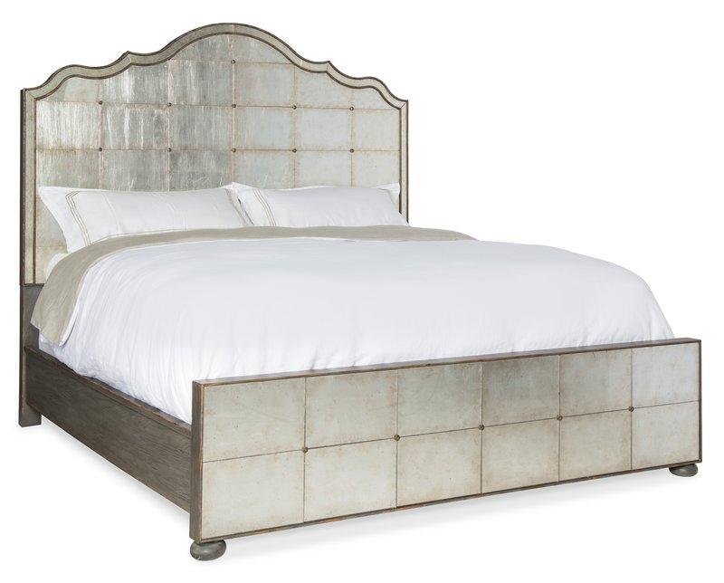 Hooker Furniture Arabella Queen Mirrored Panel Bed