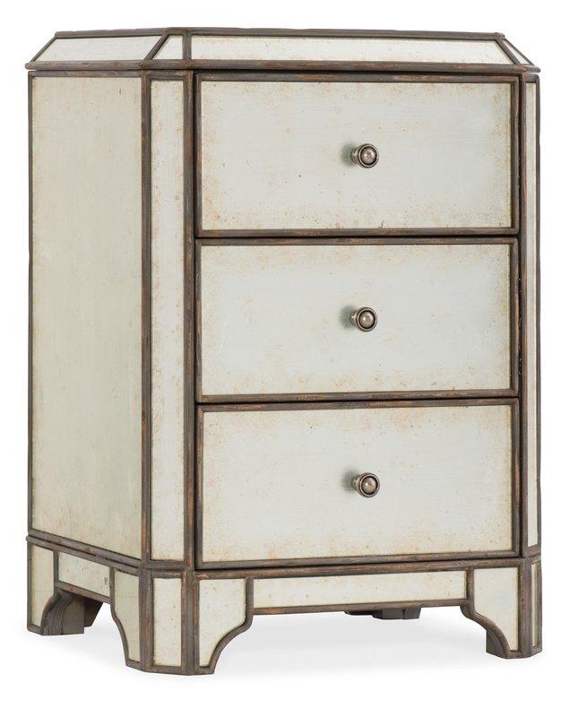 Hooker Furniture Arabella Mirrored Three-Drawer Nightstand