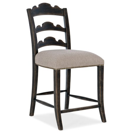 Hooker Furniture La Grange Twin Sisters Ladderback Counter Stool