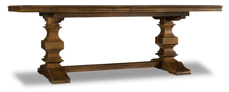 Hooker Furniture Archivist Trestle Table w/2-18in Leaves