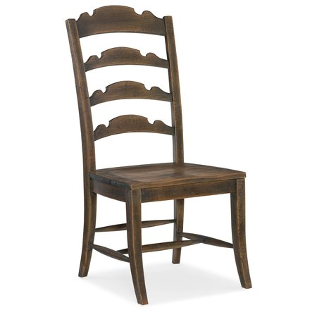 Hooker Furniture Hill Country Twin Sisters Ladderback Side Chair - 2 per carton/price ea