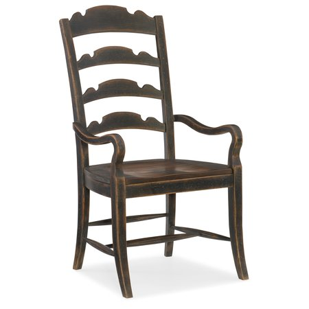 Hooker Furniture Hill Country Twin Sisters Ladderback Arm Chair - 2 per carton/price ea