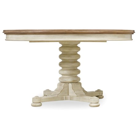 Hooker Furniture Sunset Point Pedestal Dining Table with One 18'' Leaf