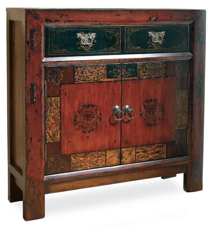 Hooker Furniture Asian Two-Door/One-Drawer Hall Chest
