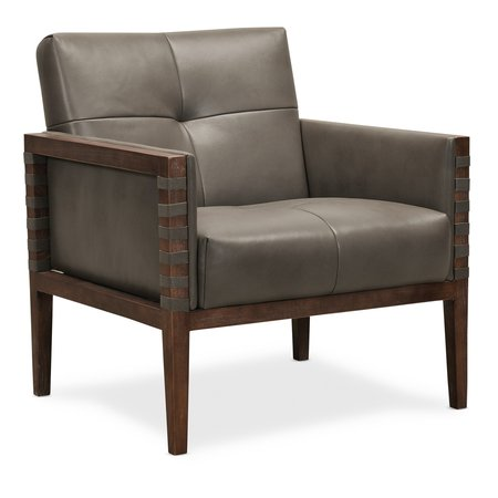 Hooker Furniture Carverdale Leather Club Chair w/Wood Frame