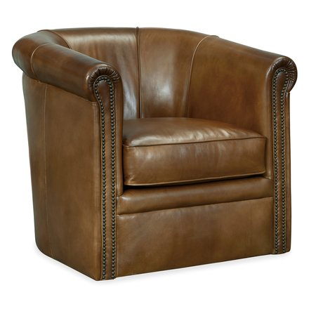 Hooker Furniture Axton Swivel Leather Club Chair