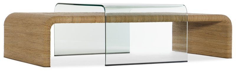 Hooker Furniture Amani Rope and Glass Cocktail Table