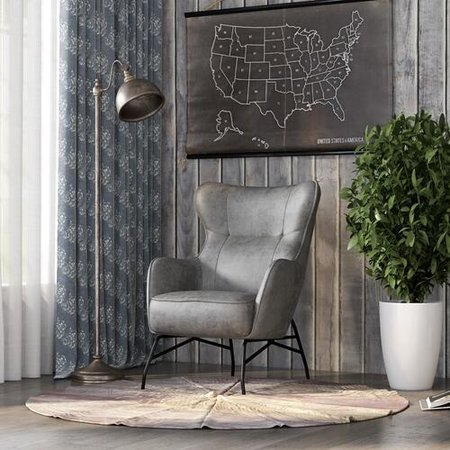 Emerald Home Charcoal Accent Chair