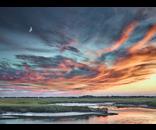 Prints Salt Marsh Sunset