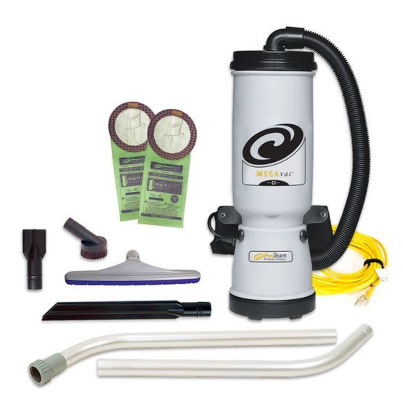 ProTeam Commercial Vacuums MegaVac 10 qt. Backpack Vacuum w/ Blower Tool and Xover Multi-Surface Two-Piece Wand Tool Kit