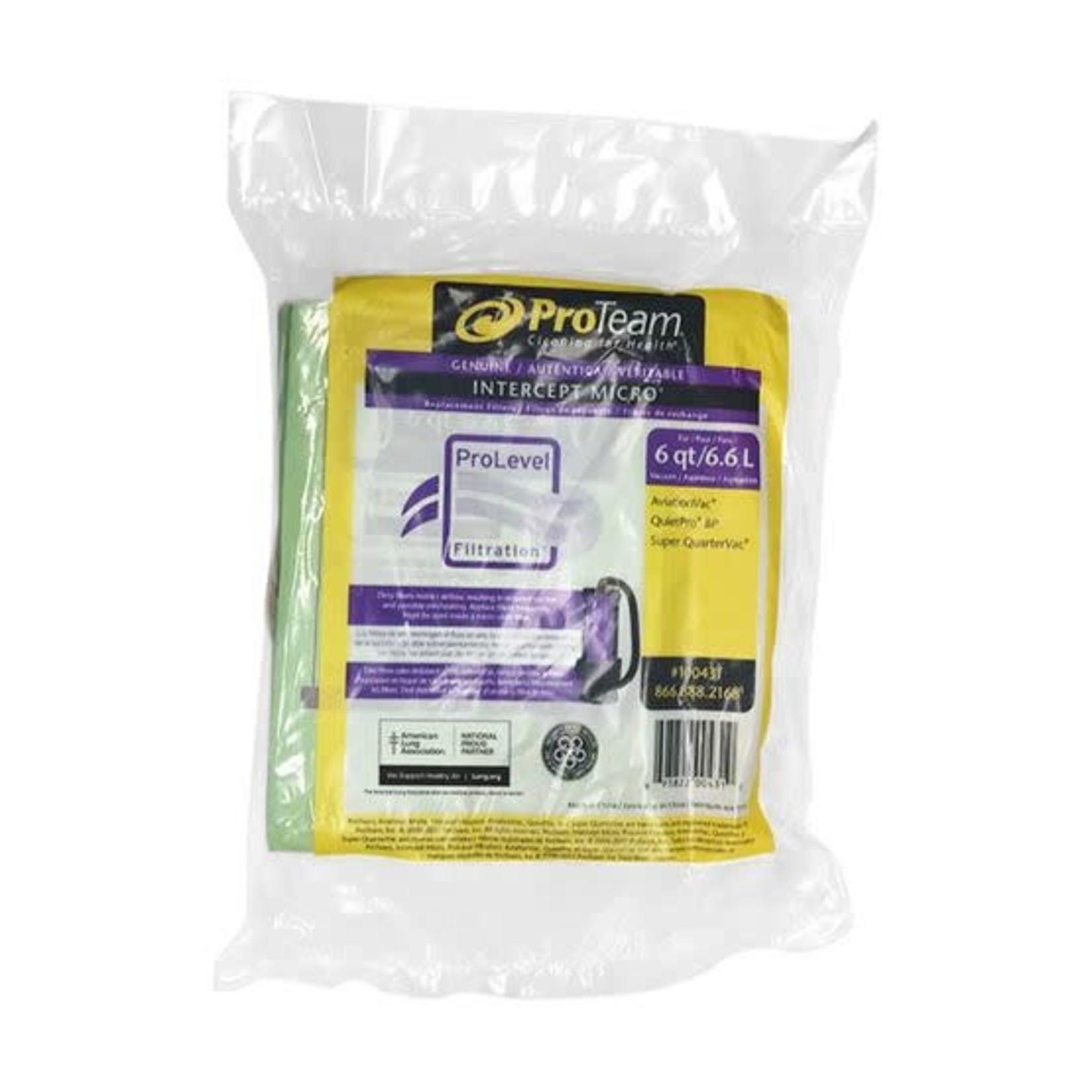 ProTeam Commercial Vacuums PAPER BAGS - QUARTERVAC QUIETPRO