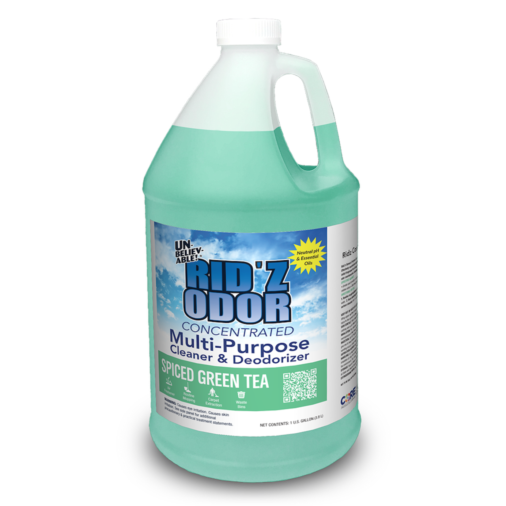 Core Products RID'Z ODOR SUPER CONCENTRATE UNBELIEVABLE! - SPICED GREEN TEA - GALLON
