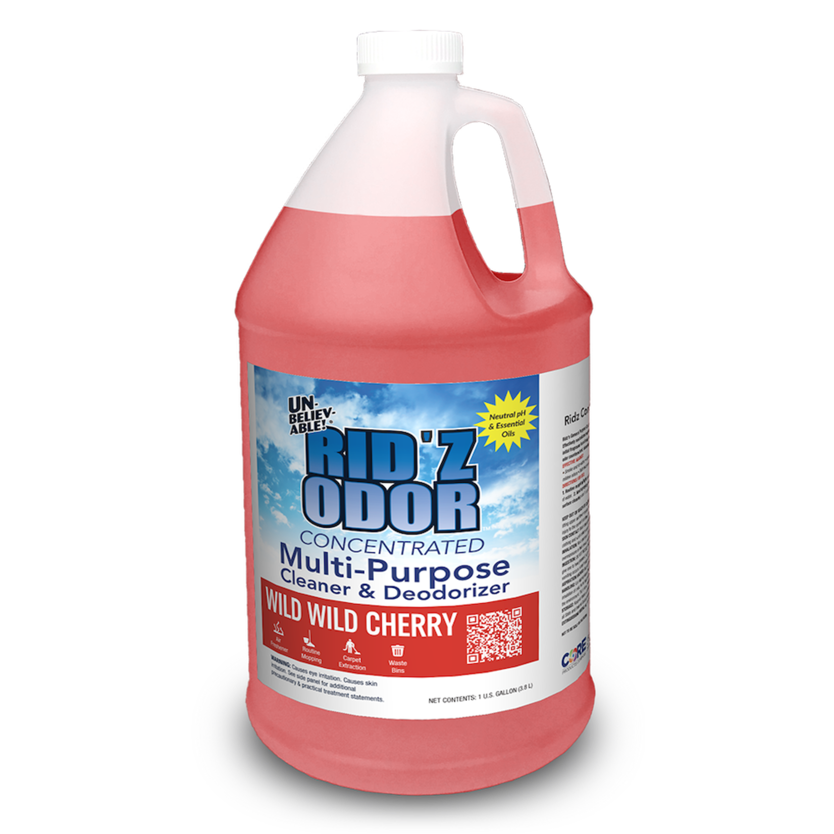 Core Products RID'Z ODOR SUPER CONCENTRATE UNBELIEVABLE! - WILD CHERRY - GALLON