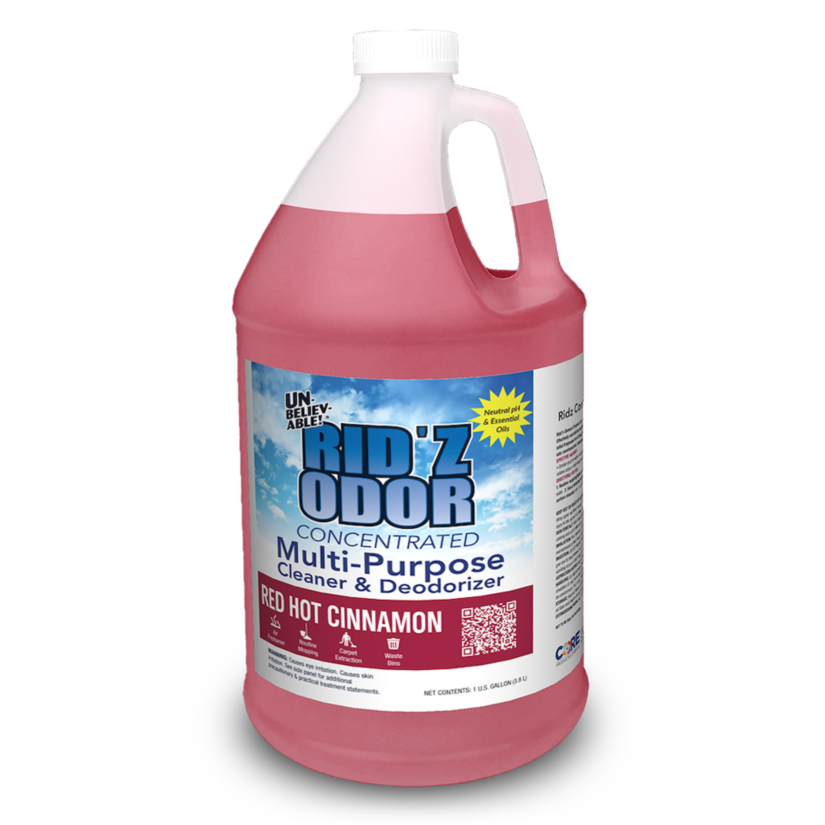 Core Products RID'Z ODOR SUPER CONCENTRATE UNBELIEVABLE! - RED HOT CINNAMON - GALLON