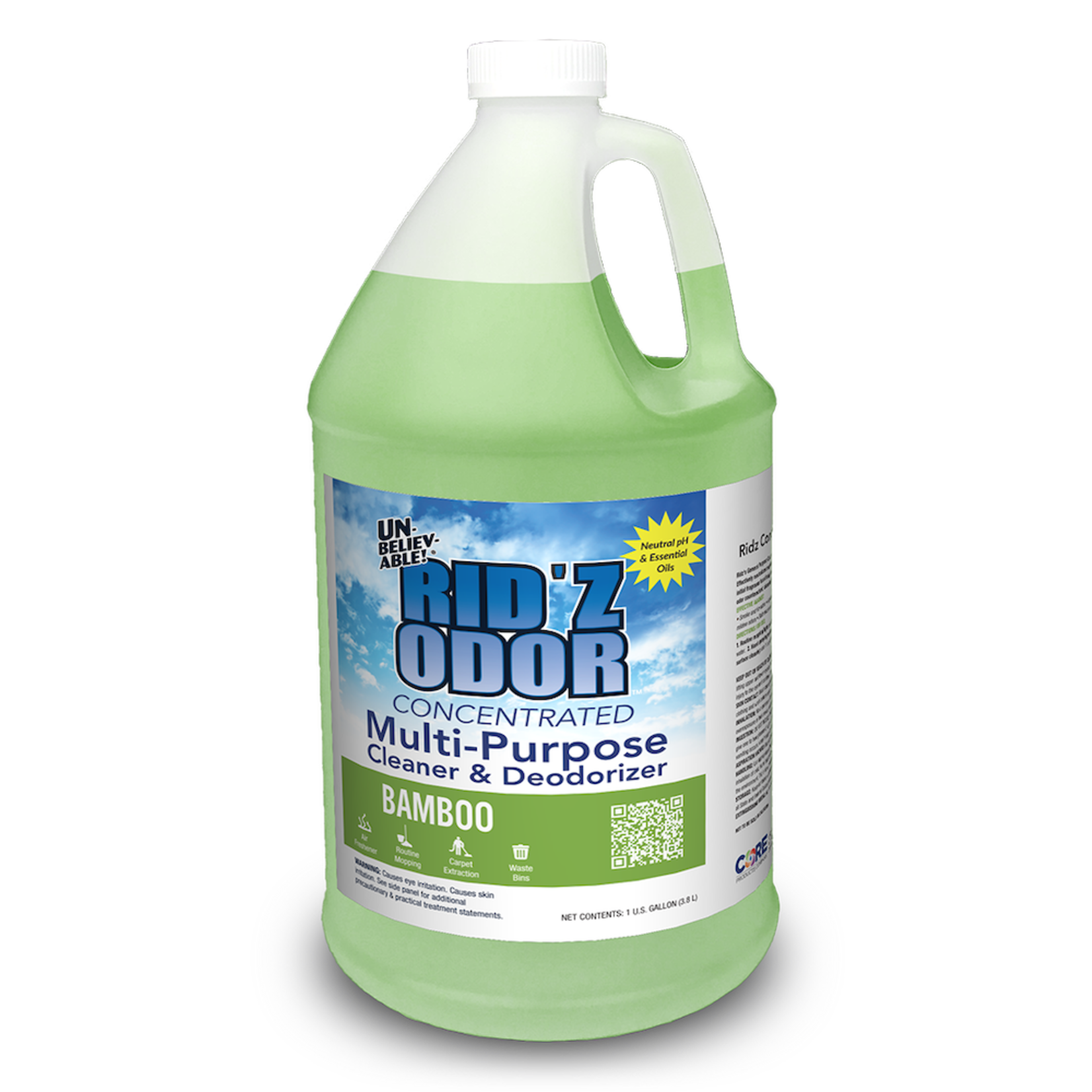 Core Products RID'Z ODOR SUPER CONCENTRATE UNBELIEVABLE! - BAMBOO - GALLON