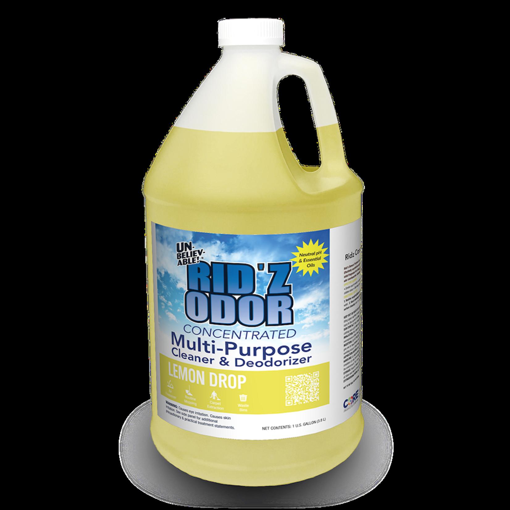 Core Products RID'Z ODOR SUPER CONCENTRATE UNBELIEVABLE! - LEMON DROP - GALLON