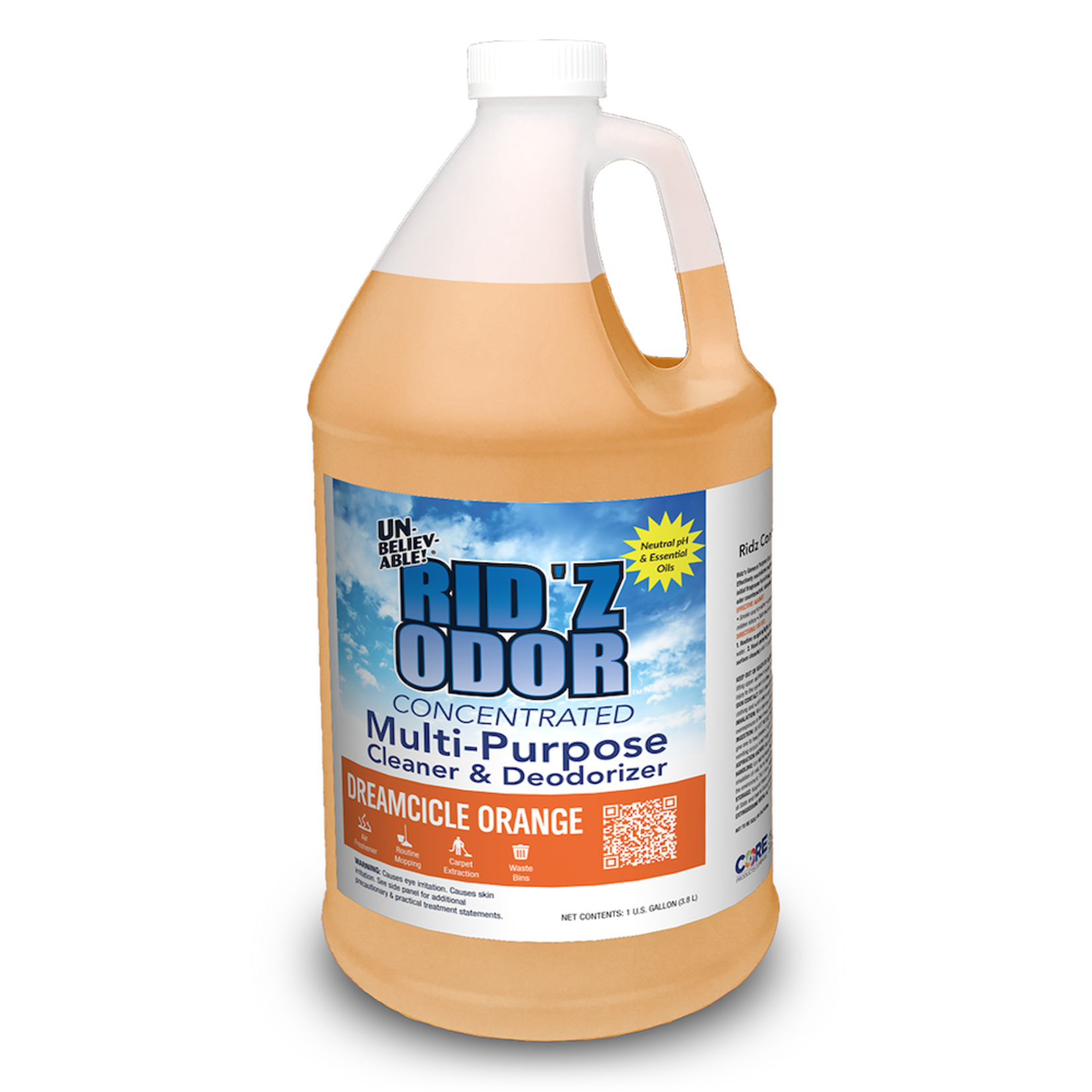 Core Products RID'Z ODOR SUPER CONCENTRATE UNBELIEVABLE! - DREAMCICLE ORANGE - GALLON