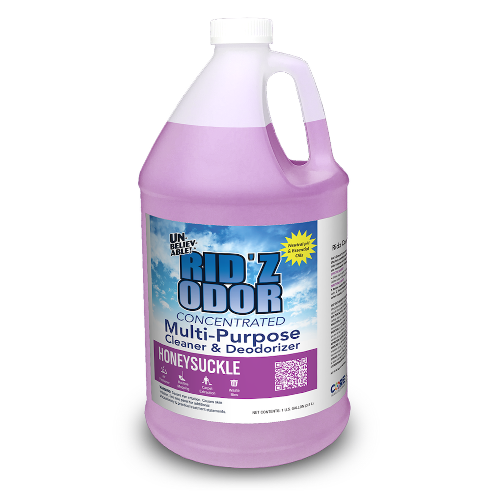 Core Products RID'Z ODOR SUPER CONCENTRATE UNBELIEVABLE! - HONEYSUCKLE - GALLON