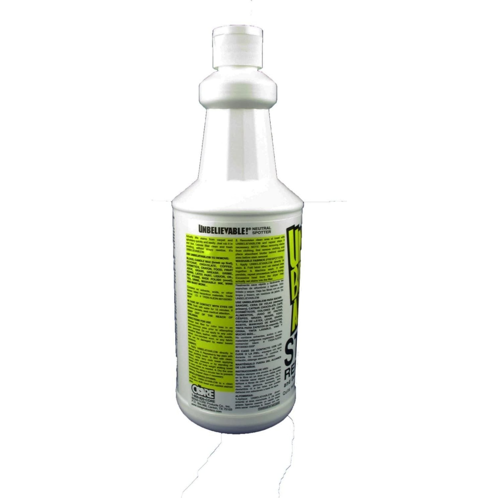 Core Products UNBELIEVABLE!® STAIN REMOVER - 32oz
