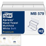 """Tork Tork Premium MB579 Soft Xpress Multifold Paper Hand Towel, 3-Panel, 2-Ply, 9.125"""" Width x 9.5"""" Length, White (Case of 16 Packs, 135 per Pack, 2.160 Towels)"""