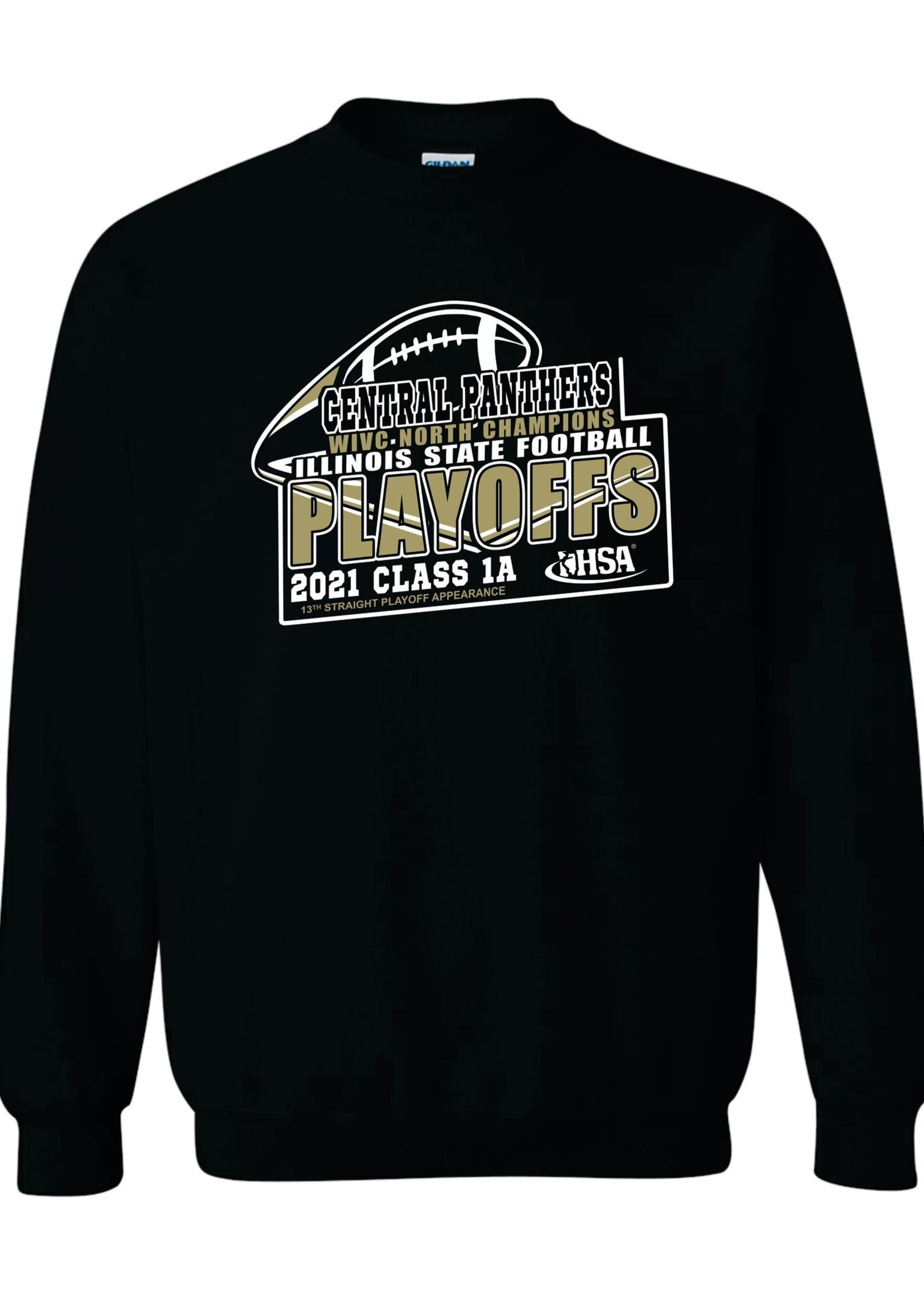 2021 Central Playoff crewneck sweatshirt