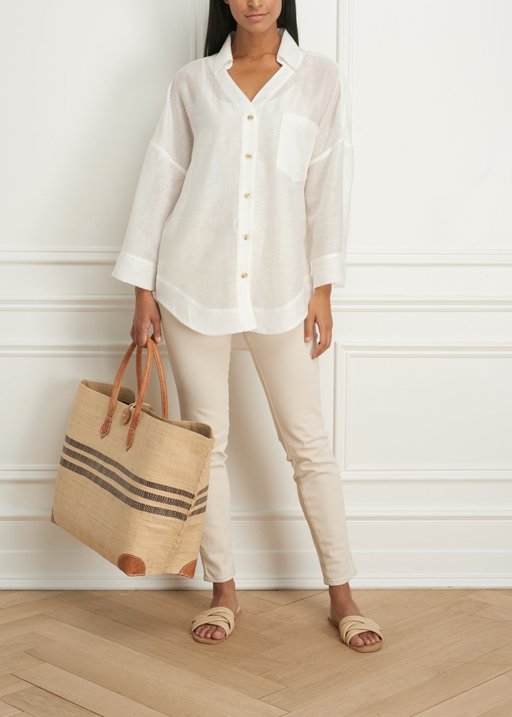 Iris Setlakwe Overshirt with Bell Sleeves