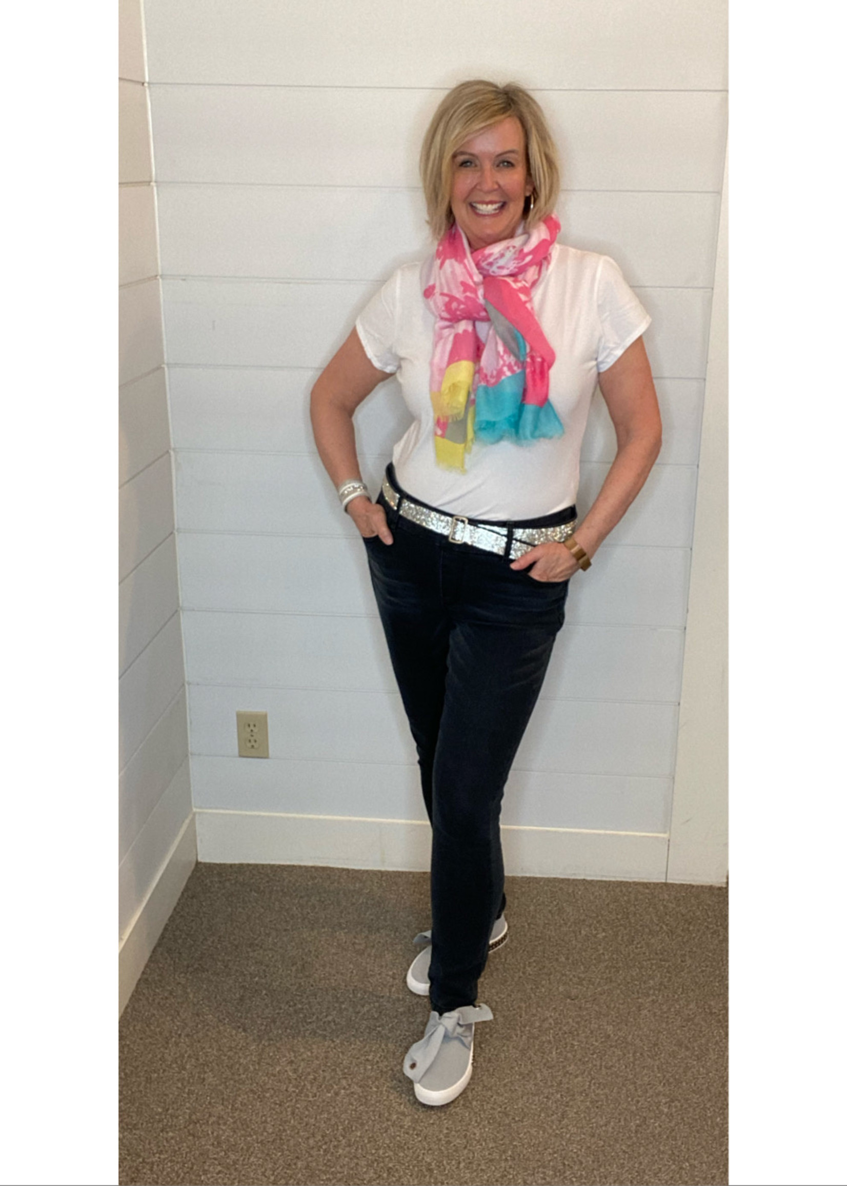 GG Jeans GG Jeans Skinny Jeans with Bling Belt