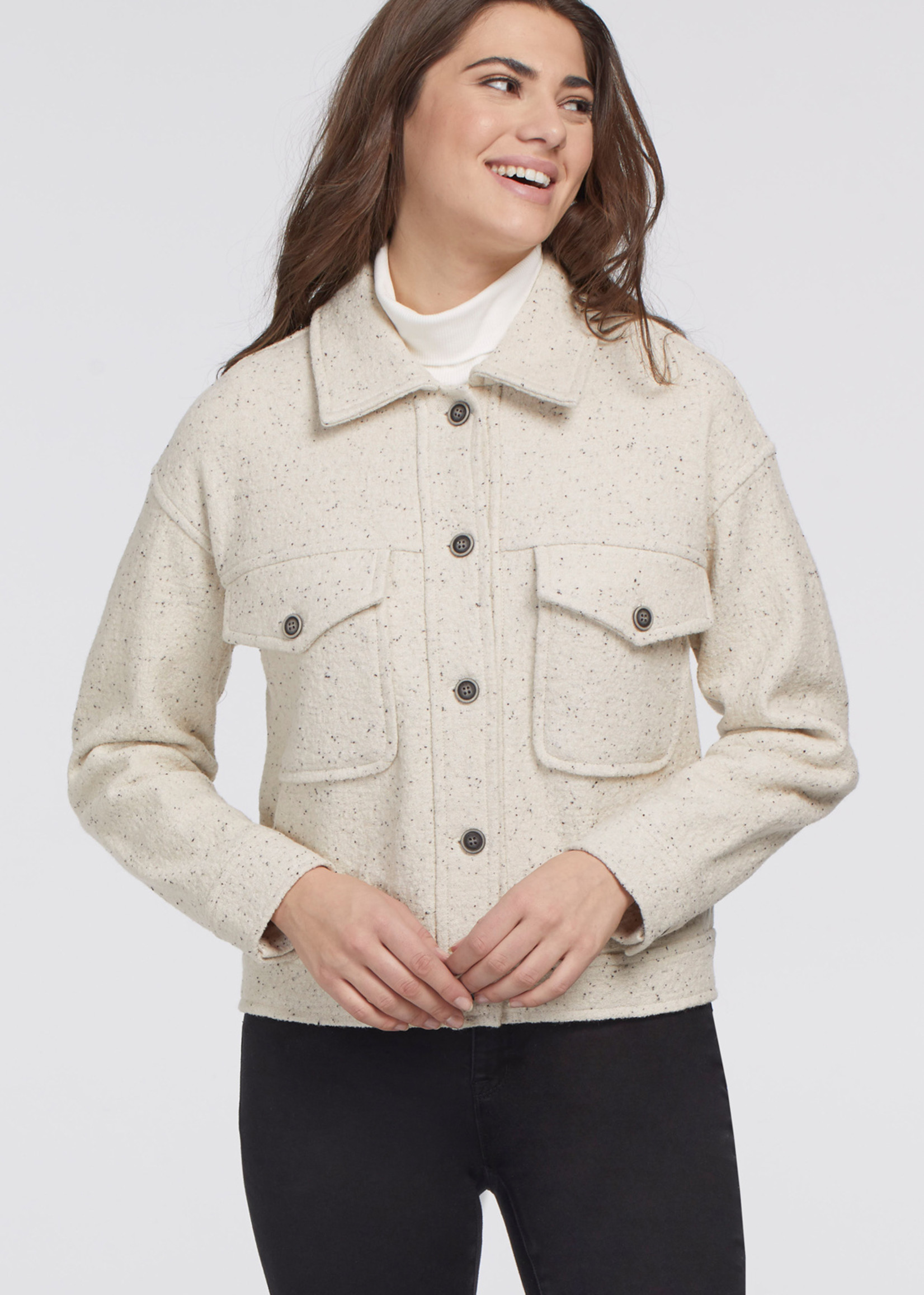 Tribal Tribal Boiled Wood Jacket with Pockets
