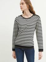 Saint James Cotton Striped Crew Neck Sweater