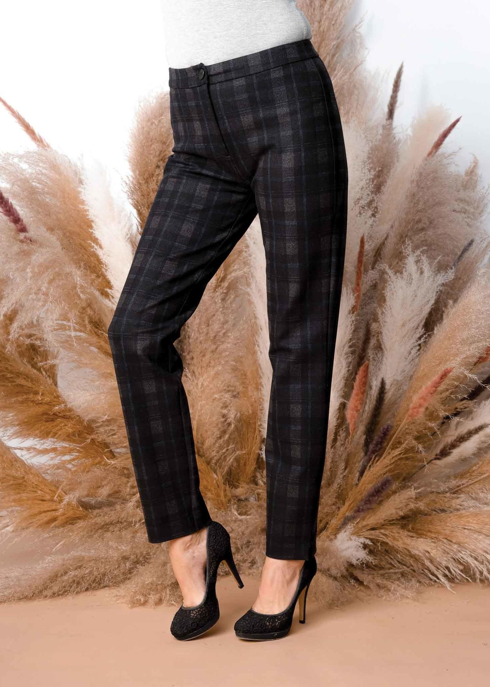 Alison Sheri Alison Sheri Plaid Slim Leg Pant