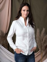 Alison Sheri Blouse with Standup Collar