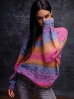 Elena Wang VNeck Multicolour Sweater w/ Cashmere