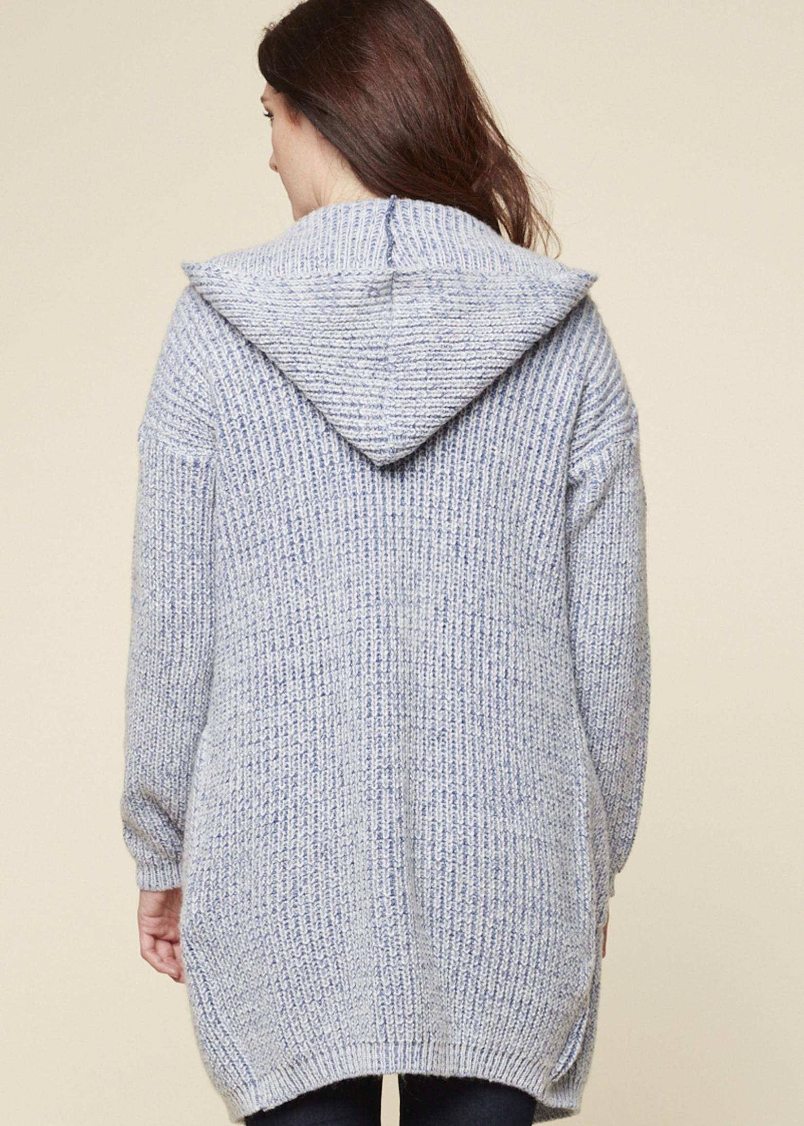 Parkhurst Parkhurst Long Robe Cardigan with Hood