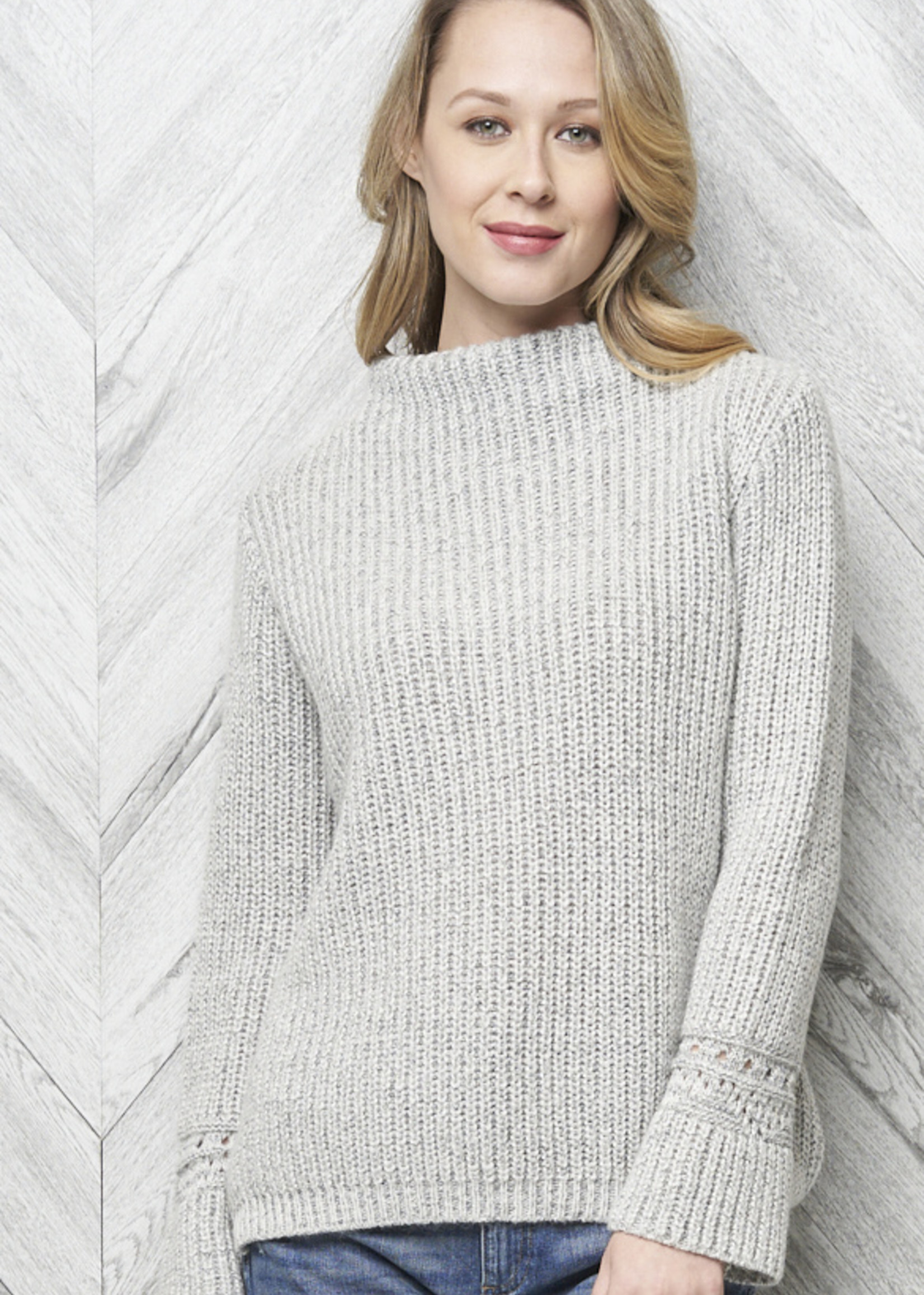 Parkhurst Parkhurst Ribbed Funnel Neck Sweater