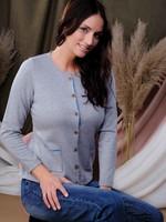 Alison Sheri Button Front Cardigan w/ Pockets