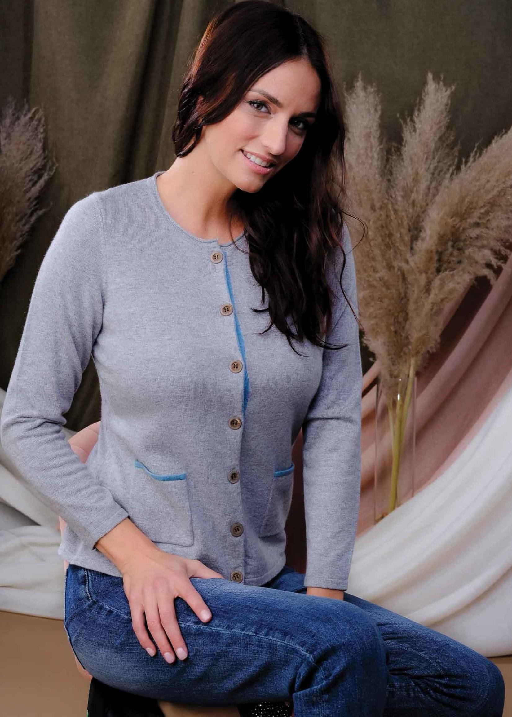 Alison Sheri Alison Sheri Button Front Cardigan w/ Pockets
