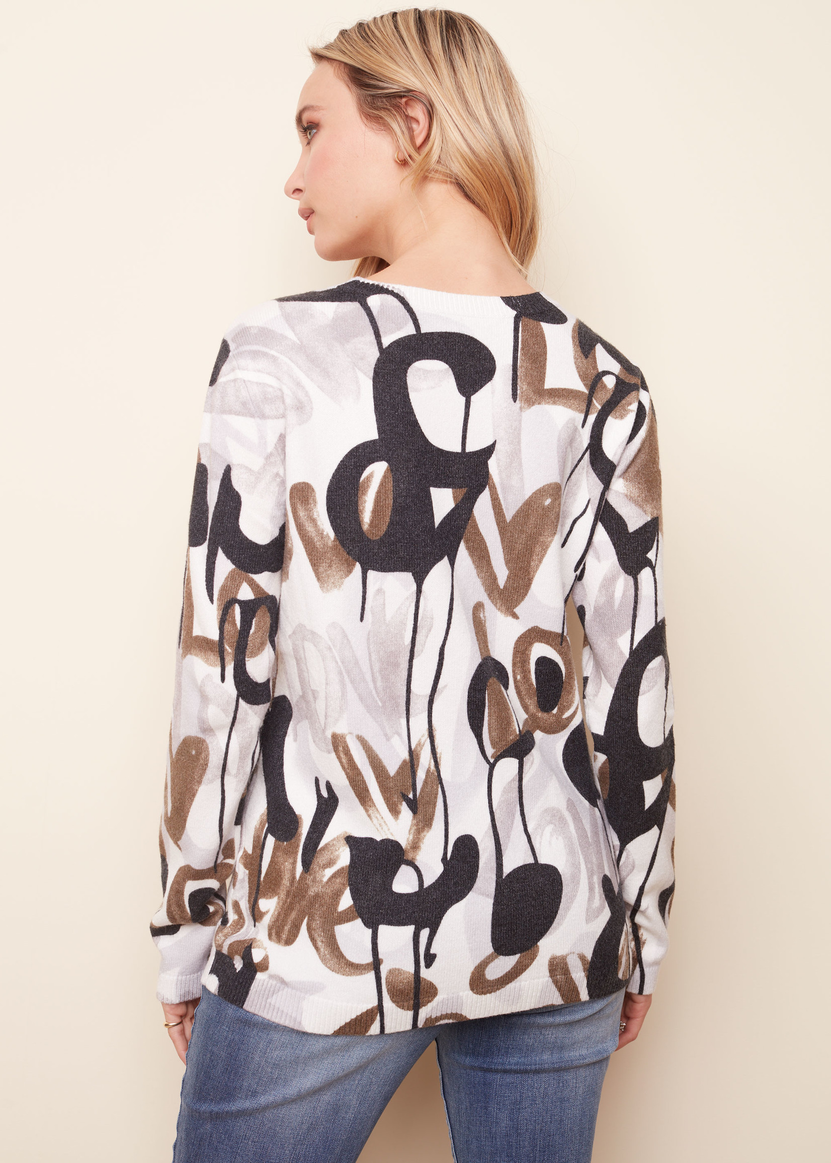 Charlie B Charlie B Graphic Design Sweater