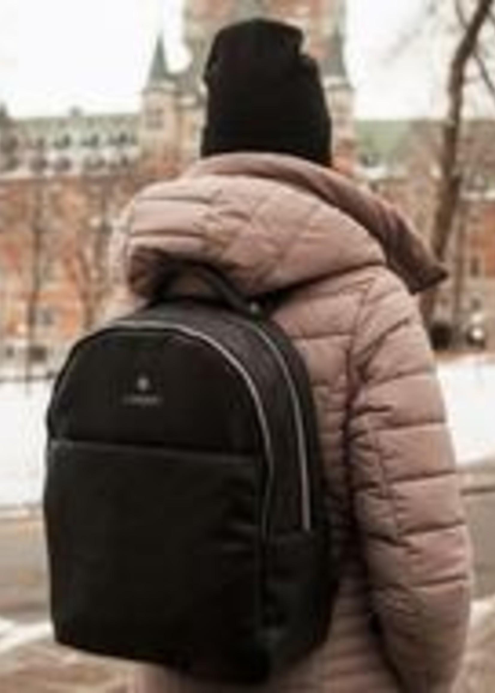 Lambert The CHARLOTTE Black Vegan Leather Backpack