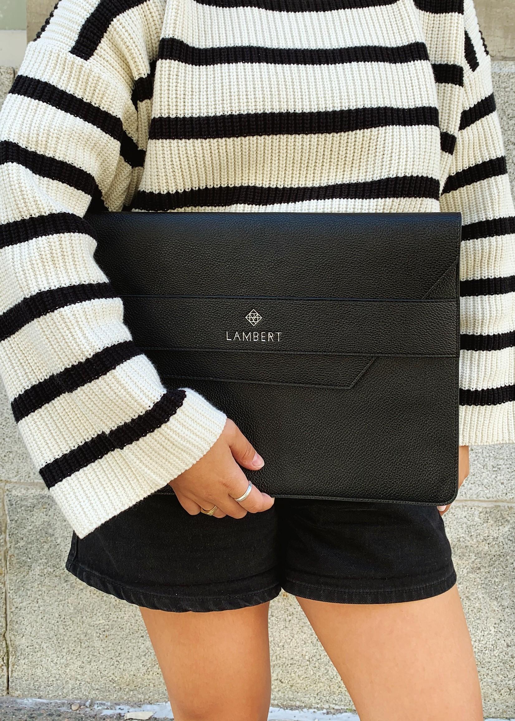 Lambert The SACHA Black Vegan Computer Sleeve