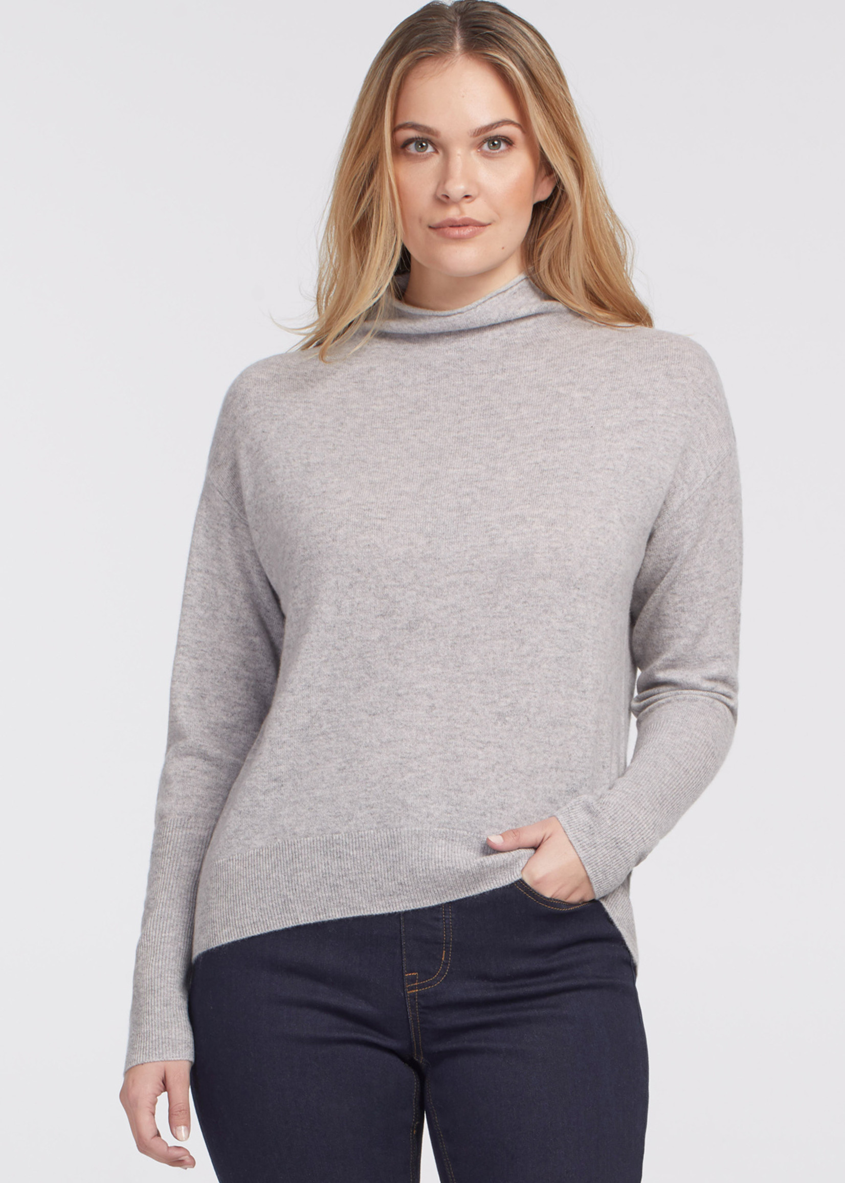 Tribal Tribal Cashmere Funnel Neck Sweater
