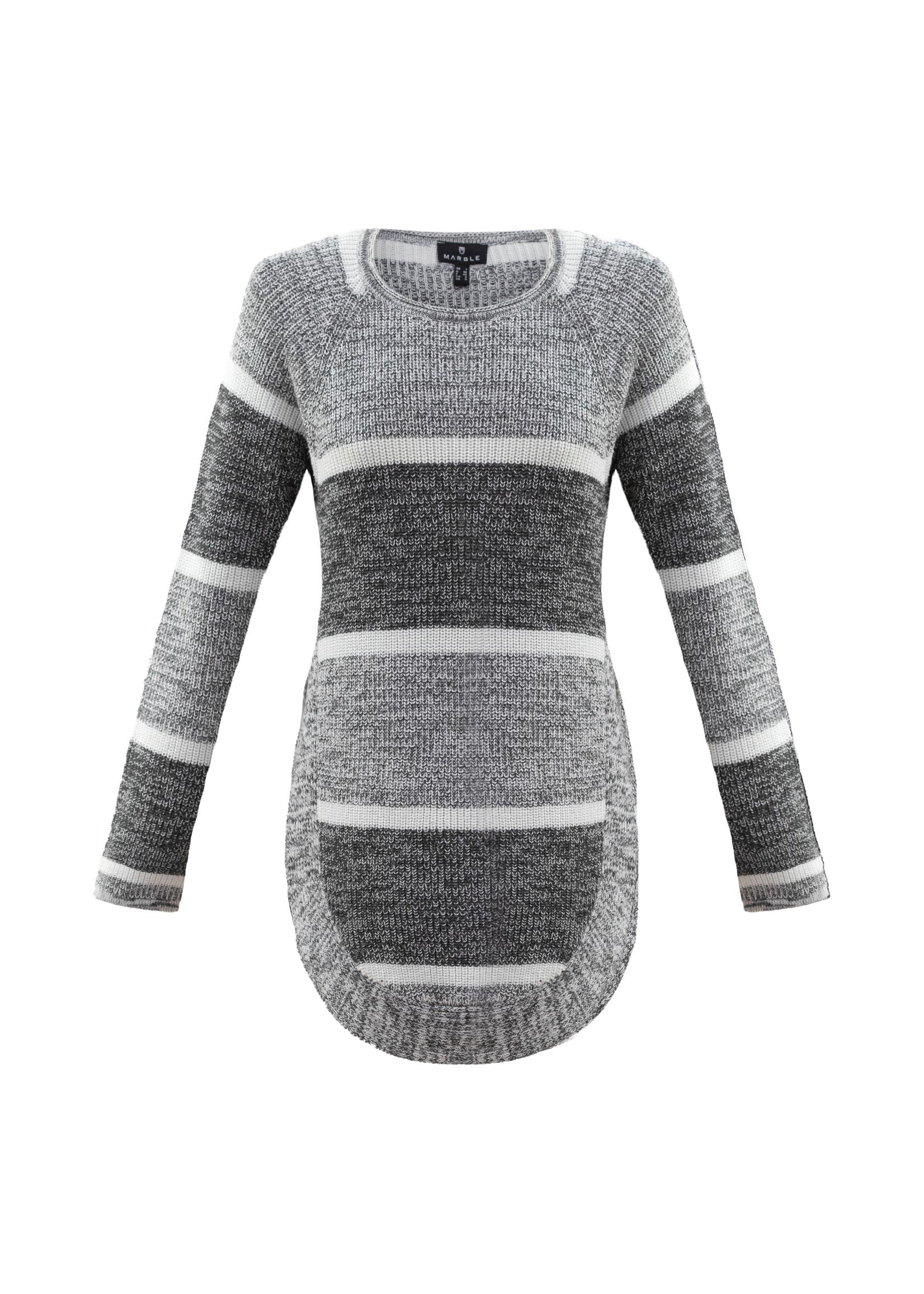 Marble Marble Split Side Sweater