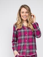 Cyberjammies Natasha Dobby Check Pyjama Top