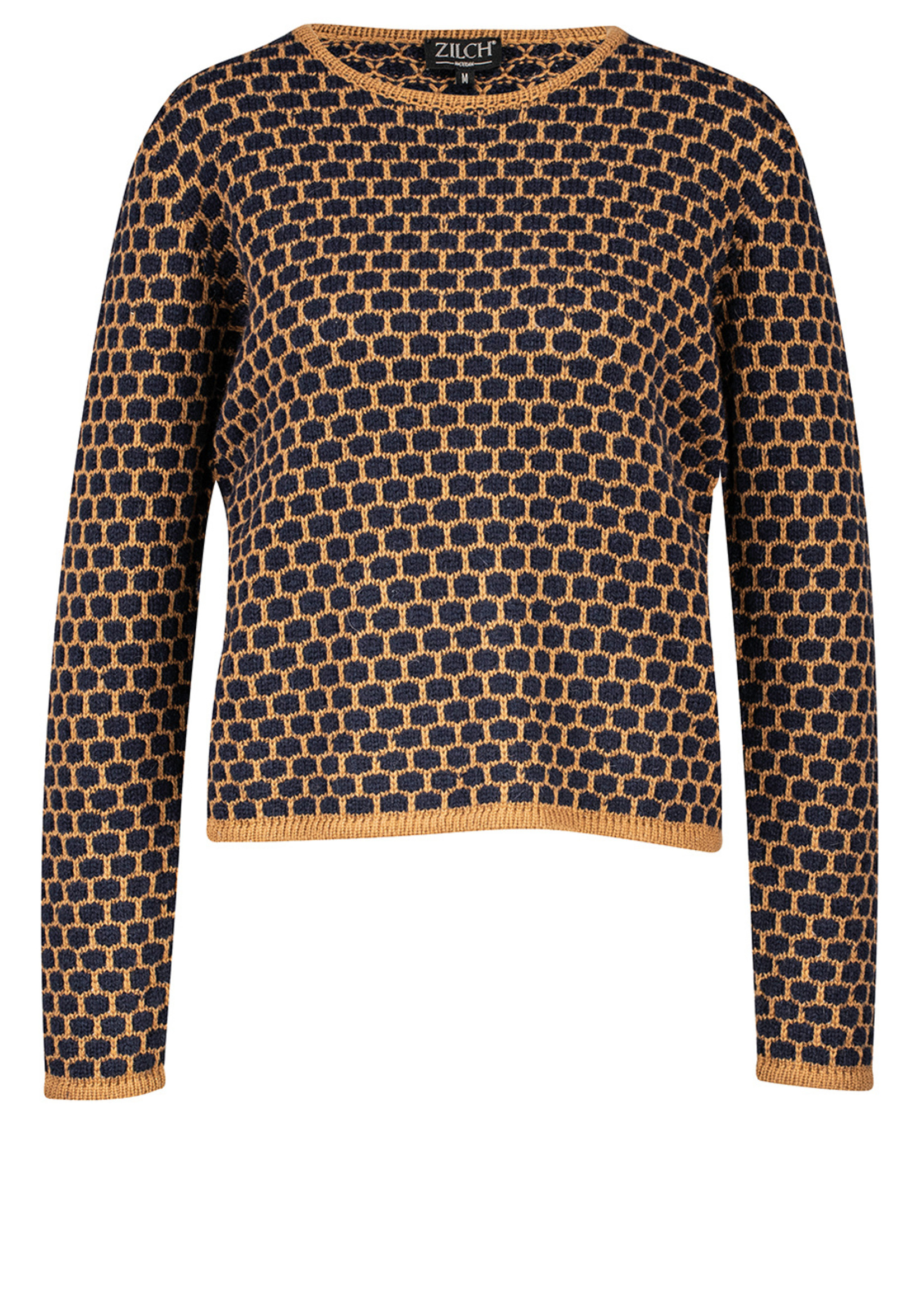 Zilch Zilch Wool Honeycomb Pullover Sweater