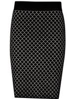Zilch Reversible Honeycomb Knit Skirt