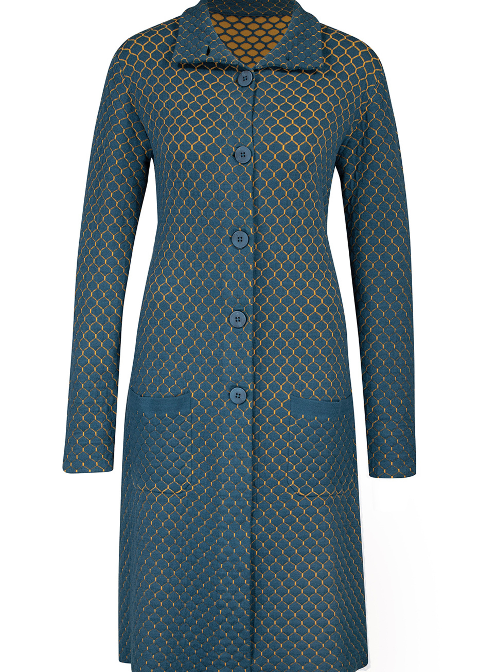 Zilch Zilch Patterned Mid Length Coat