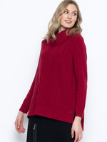 Picadilly Cowl Neck Sweater with Chevron Pattern